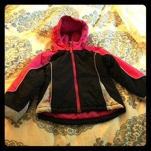 Pink and black jacket for little girls